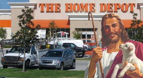 Happy Jesus Home Depot